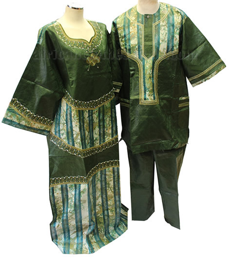 Tie and Dye Green Outfits Full