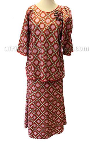 taifabricsafricanwomenclothespinkpattern1